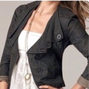 Cabi #901 Waxed Linen Jacket - S